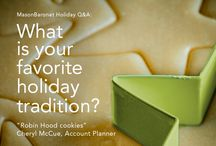 MasonBaronet Holiday Q&A / Here are some of our holiday favorites. Comment with your own!