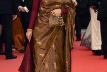 full sleeve silk saree