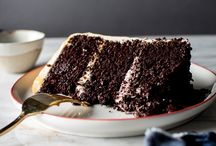 triple layer chocolate cake with salted caramel  butter cream