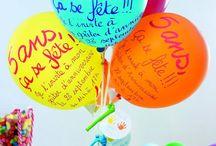 Anniversaire haut en couleurs / De nombreuses idées pour faire la fête en couleurs !!