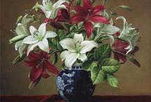 Arte flores vasos