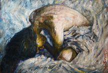Original paintings. Оригинальная живопись / Любую из представленных картин и скульптур можно приобрести для вашего интерьера на сайте https://malinagallery.ru/
