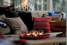 All Things Cozy / Cozy is a MUST! Add a few twinkly lights, and voilá!
