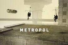 METROPOL / Inspiré librement de l'écrivain Aldous Huxley. Vision d'un autre futur. Un peu brouillard, le jour et la nuit se mélangent, c'est un dimanche soir... en banlieue de Métropolis. Modélisation, texture, lumière, render et traitement. Visitez mon site : http://www.fredox.com/