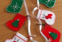 CHRISTMAS FELTIES / Felt Christmas Decorations
