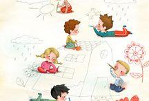 børn (illustration)
