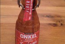 gedrechselte Bierflaschen / Bierflaschen gedrechselt und andere Flaschen