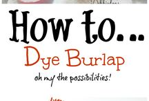 Burlap Decor / Decorating with burlap