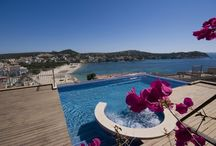 Villa for sale in Santa Ponsa in south west Mallorca / This newly built home is nestled into the hilltop above the bay and is one of two houses available for sale.   http://www.uniquemallorca.com/en/property/V-Ponsa-213