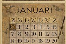 vintage spooky calendar