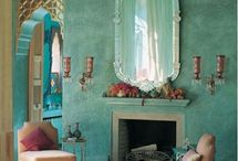 Ethnic and boho, bohemian style in interior