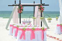 A Flamingo Pink Beach Wedding / Big Day Weddings, Flamingo pink wedding theme, Orange Beach Alabama, Gulf Shores Alabama, and Gulf Coast Weddings.