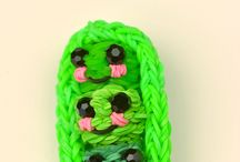 rainbow loom happy food