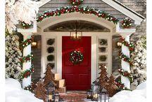Christmas front doors.