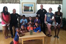 Child Safety Program-Sharp Road Apartments / On August 6th, 2014 the Evesham Police Department held a Child Safety Program for the residents of Sahrp Road Apartments.  Those in attendance met with several officers, got to be fingerprinted as part of a safety kit, and were allowed to sit in a police car.  Everyone had a great ime.