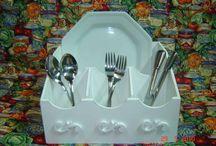 porta pratos e talheres