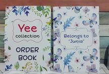 Order Book / Custom Design Order Book Cover : Ivory 260gr Fill : 50 lbr (full colour - 1 buku untuk 150 catatan data pelanggan)  WA : 085225379048 Line : @amstore.indo