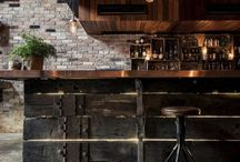 bar with wood