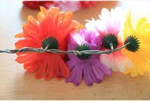 DIY crown with fake flowers