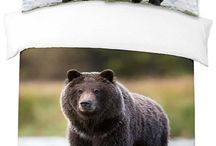 Brown Bears / Our selection of bear quilts, comforters and bedspreads feature images of brown bear, black and grizzly bears in forest and mountain settings
