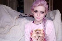 Hair pink / Hair in pink