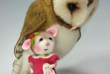 hiiret ja pöllöt, kangas ja huopa