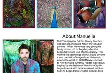 Manuelle Scarves  / Manuelle Scarves,  Digitally Printed Photo Silk Scarves .