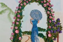 LADY IN GARDEN QUILLING / LADY QUILLING