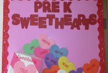 Valentine's day boards / Sevgililer günü panoları