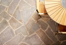 Eco Outdoor stone textures and surfaces / Showroom displays and close up textures of our stone walling and flooring