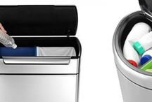 Dual Trash Can & Double Recycling Bins with 2 Compartments / 2-compartment trash cans for sorting trash and recycling in your kitchen. Check out double trash cans.
