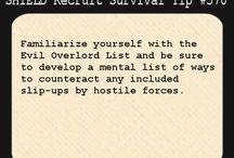 S.H.I.E.L.D recruit survival tips / by Jennifer Johnson