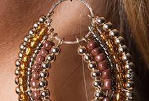 orecchini perline vetro