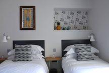 bricolages / tête de lit en bois