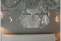 Paint light fixtures / Light fixture in lounge - grey