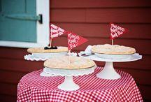 wedding pie table / by Janna Webbon