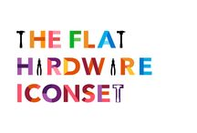 The flat hardware iconset