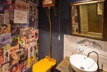 Interiores: banheiros, salas de banho e lavabos