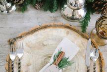 Festive Art De La Table We Love! / Amazing Setup for Winter Festivities!