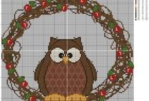 Owls / by X Squared Cross Stitch