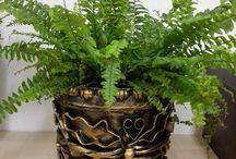 Creativní tvorba / Creativně zhotovené květináče, květinové stojany apod.