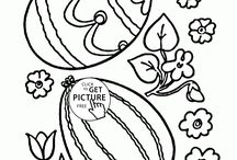 Easter coloring pages / Easter egg coloring page, easter Bunny coloring pages, happy easter coloring pages