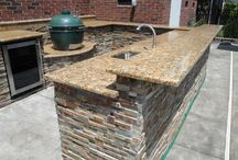 Outdoor braai/barbecue area / Entertainment area with all the necessities.