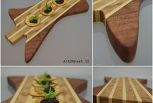 'Explorer's Taste' Masterpiece 52.09.16 / Handmade serving / cutting board ! Coating with 100% vegetable oil appropriate for food contact. Unique piece! For more photos and info at https://www.facebook.com/artstreet52/