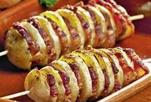 cartofi cu beicon la grătar