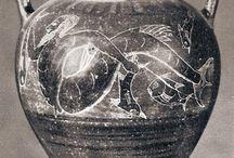 ancient amphoras, clay vessels,pots, jars... / antiguas ánforas, vasijas, tinajas, recipientes... / amphoras,vessels,pots and jars from the greek, roman or etruscan (so as many other ancient civilizations) art /  Ánforas, vasijas, tinajas y jarras del arte griego, romano o etrusco (así como de otras civilizaciones del mundo antiguo).
