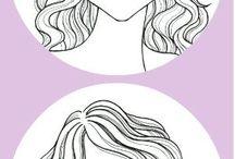 Kasvot ja hiusmalli