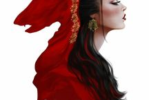 """vi. lovers; lit. little red riding hood / """"The better to eat you with, my dear.""""  c. little red riding hood, the wolf;  #fairy_tales (lit; aes)"""