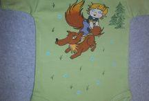 Mé výrobky - trička,dětská body / Ručně malovaný textil