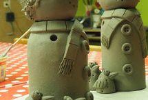 vánoční keramika